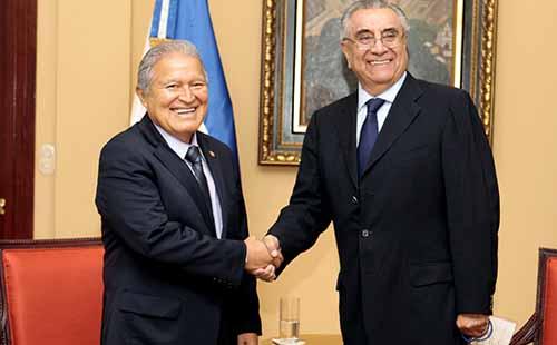 Reunion del Pdte, Ceren Con Jefe de Mision de la OEA