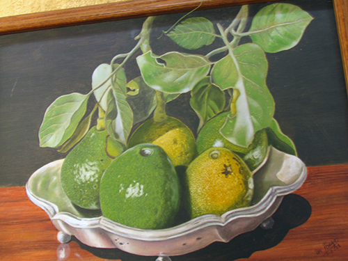 Exquisitez de fruta, de dibujo y de pintura.