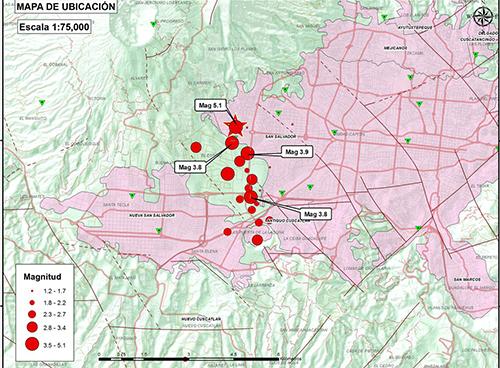 El Salvador: Se reportan más de 400 sismos en San Salvador
