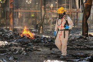 Incendio en exfábrica Baterías de El Salvador