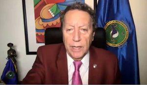 Vinicio Cerezo, Secretario General del SICA y la cooperación de Luxemburgo