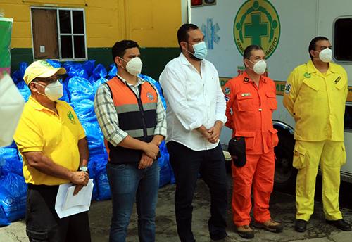 Comandos de Salvamento recibe alimentos e insumos de protección.