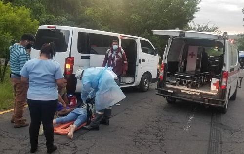 seis personas lesionadas en cuatro accidentes