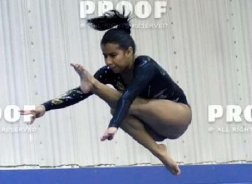 Paola Ruano, atleta de Gimnasia.