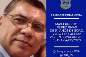 Max Pérez, comunicador de PDDH